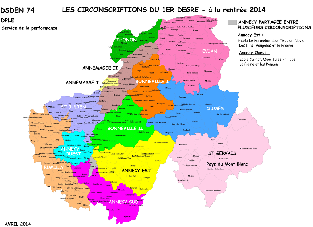 carte circonscription haute savoie CARTES DSDEN74